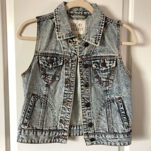 THREAD & SUPPLY Acid Wash Vintage Jean Vest / S